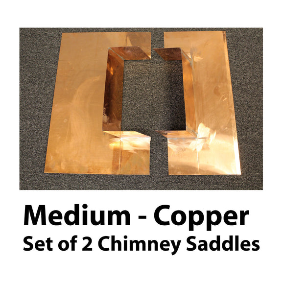 Chimney Saddle Flashing - Medium, Copper