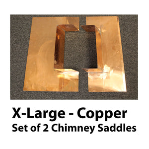 Chimney Saddle Flashing - Extra Large, Copper