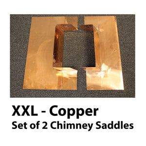 Chimney Saddle Flashing - XX Large, Copper