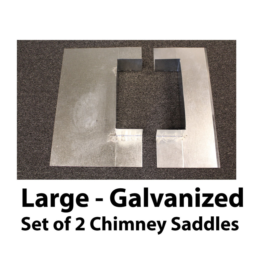 Saddle Flashing - Large, Galvanized