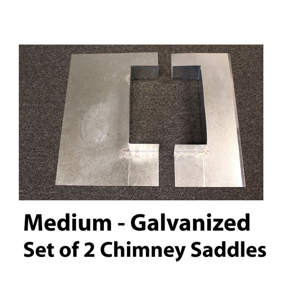 Saddle Flashing - Medium, Galvanized