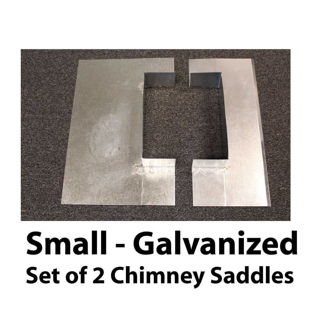 Saddle Flashing - Small, Galvanized
