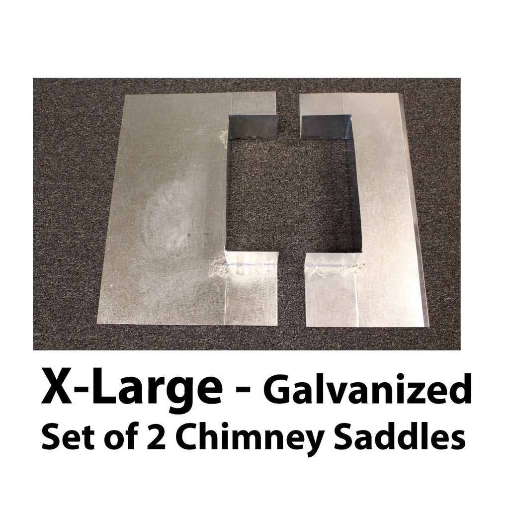Saddle Flashing - Extra Large, Galvanized