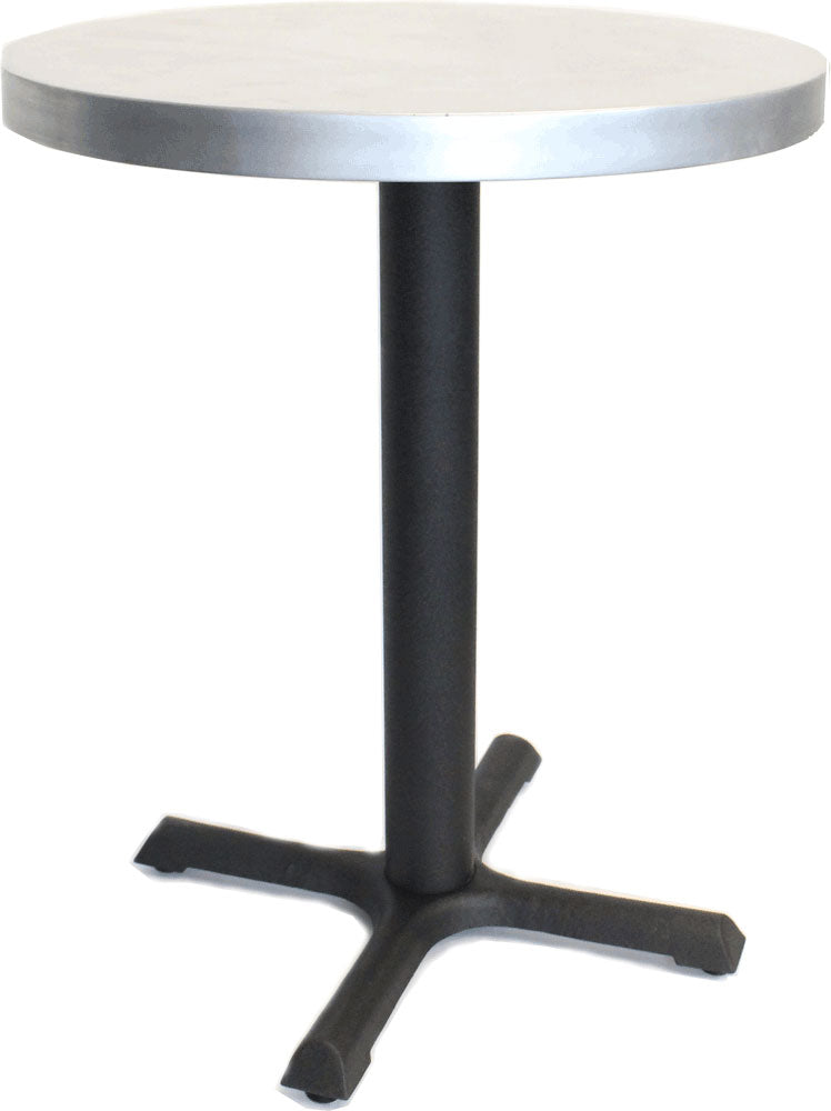 "30"" Round Table with Black Steel Base"