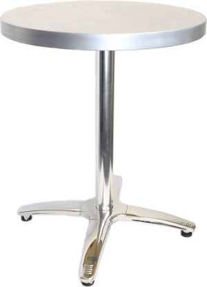 "24"" Round Cafe Table With Stainless Steel Base"
