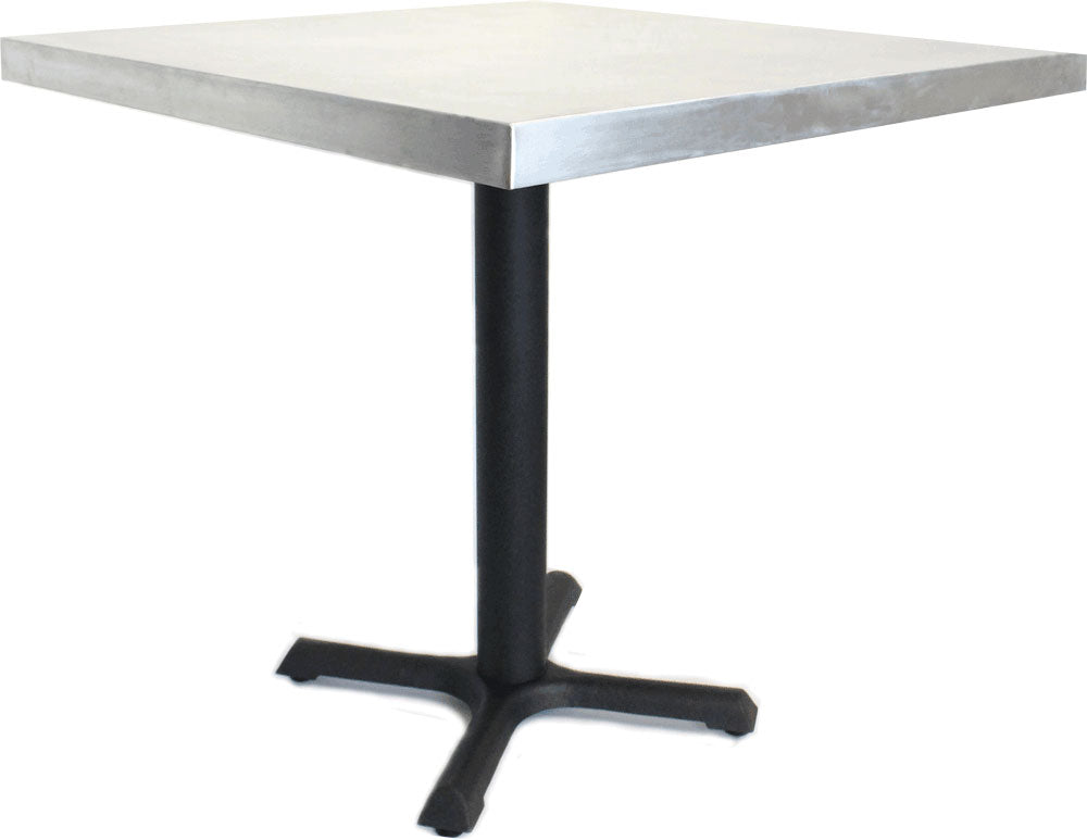 "Square Table With Steel Base, 30"" x 30"" x 30"""