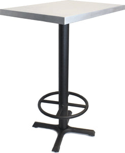 "24"" Square Table With Bar Height Steel Base"