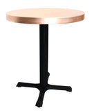 "24"" Round Table with Black Steel Base"