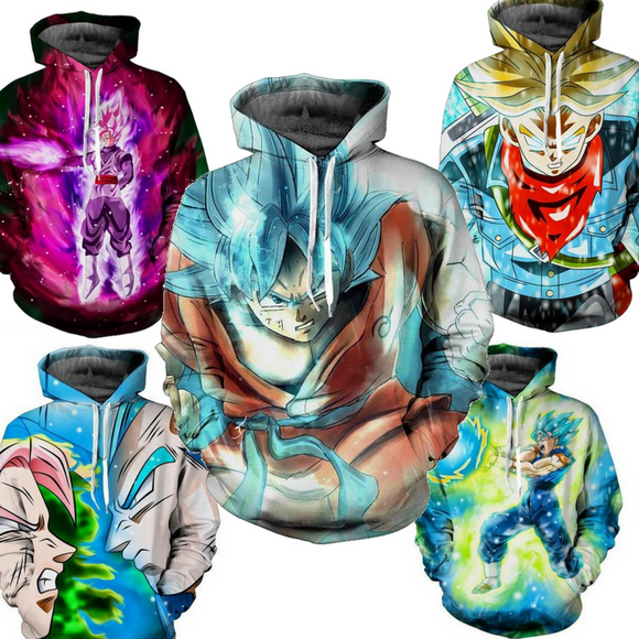 Dragon Ball Super 3D design Hoodie (many designs available)