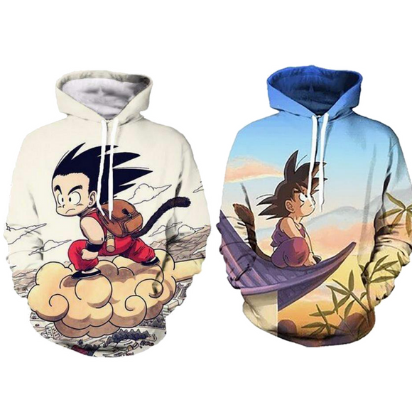 Kid Goku 3D Print Hoodie (Two designs available)