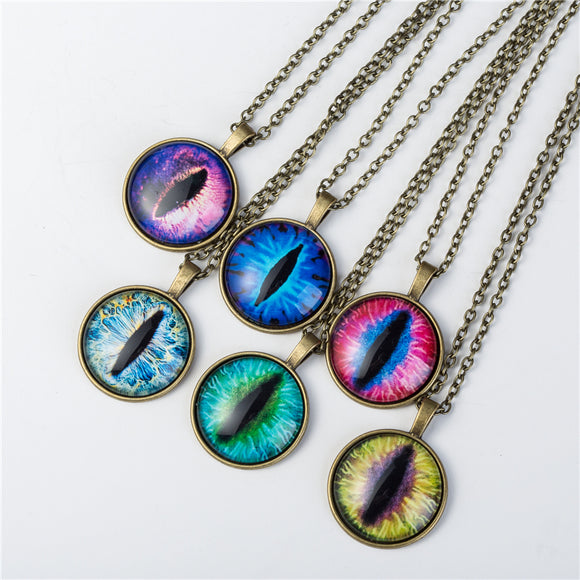 Vintage Cat Eye Necklace - Many Colors Available