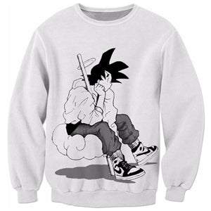 Street Goku Sweatshirt (Two colors available)