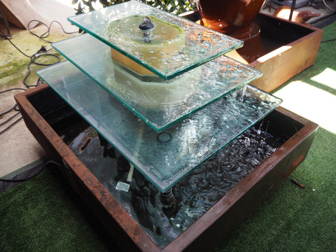 3 Tier Glass Water Feature
