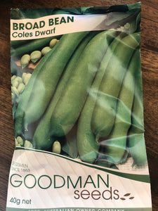 Bean - Broad Bean - Coles dwarf
