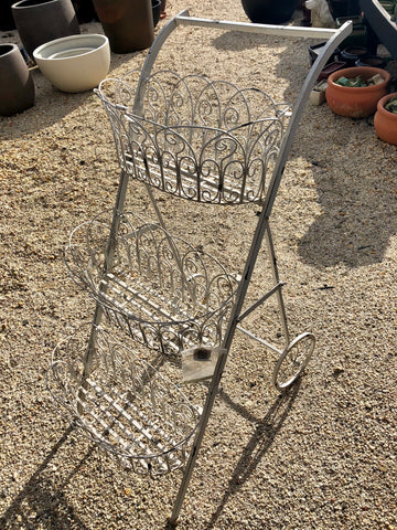 Wrought iron plant stand