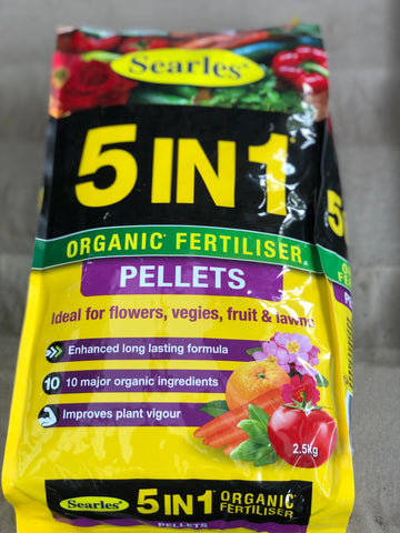 5 in 1 organic fertiliser pellets 2.5kg