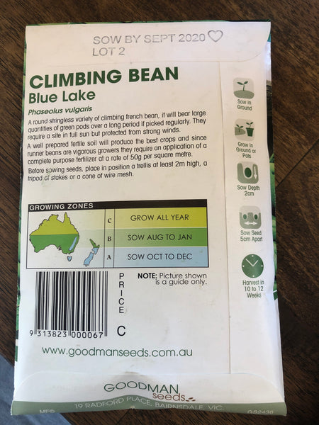 Bean Climbing - Blue lake