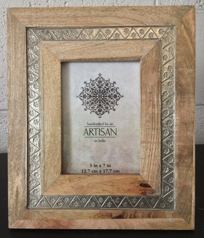 Mango Wood Hand Pressed Tin Frame