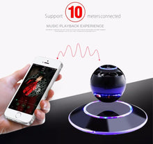 Floating Orb bluetooth wireless stereo rotating 360 degree speakers Magnetic levitation Stereo sound