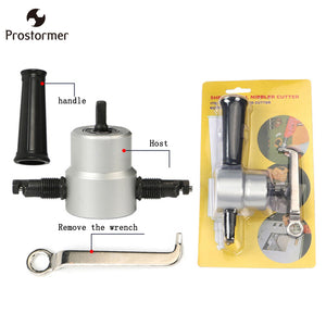 Free shipping DOUBLE HEAD SHEET NIBBLER METAL CUTTER