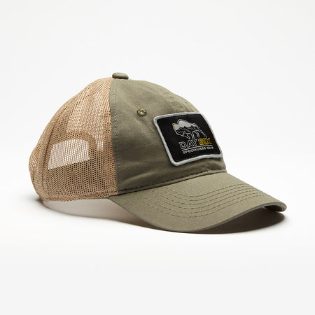 Unstructured Olive/Tan Buffalo Logo