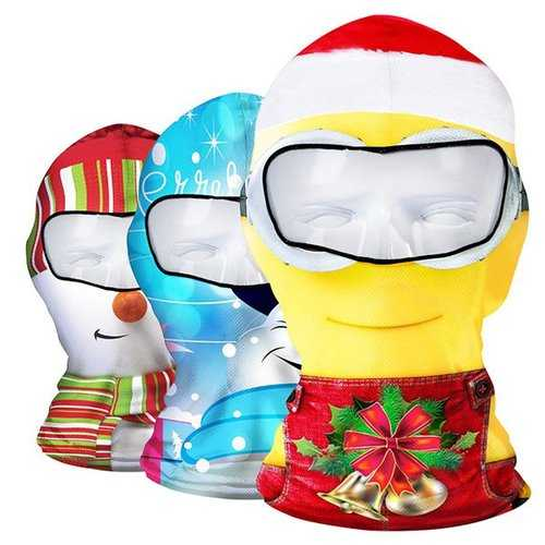 Christmas Face Mask Christmas Winter Skiing Cap Cycling CS Hat