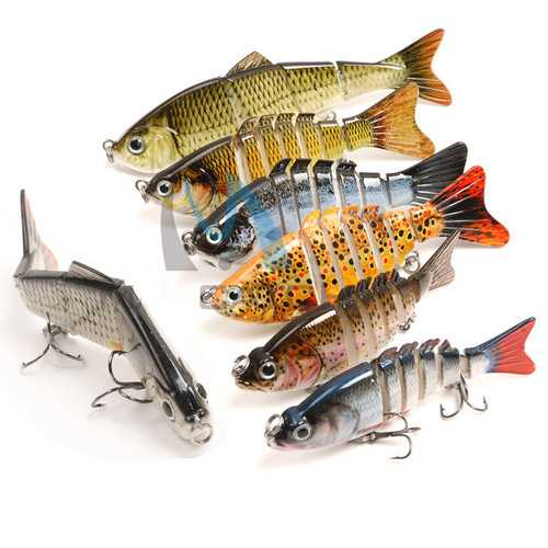 Maxcatch Carp Fishing Lures 10cm 13g 6 Segments Crankbaits Hard Lure