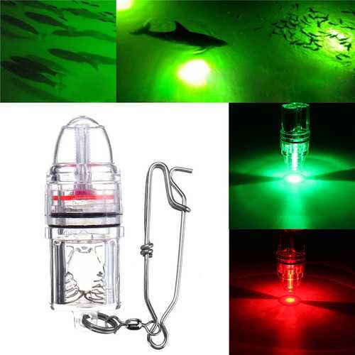 Deep Drop LED Fishing Light Underwater Red/Green 2100ft Flash Fishing Lamp DC3V