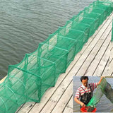 3.2m Long Tube Nylon Mesh Crab Crayfish Lobster Shrimp Prawn Eel Live Trap Net Bait Fishing Pot