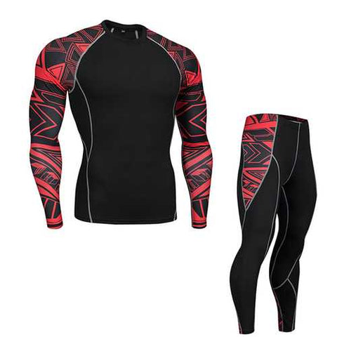 Outdoor Speed Dry Breathable Casual Stitching Color Gym Suit