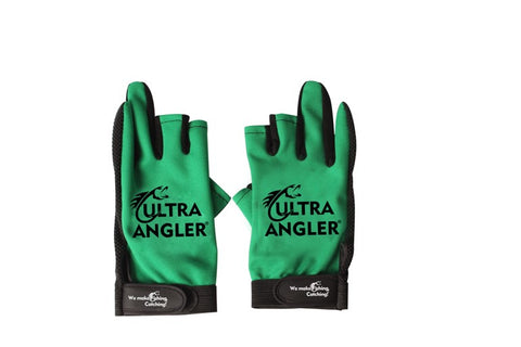 1Pair Waterproof 3 Cut Finger Anti-slip Non-Slip Ultra Angler Fishing Gloves Outdoor Sport