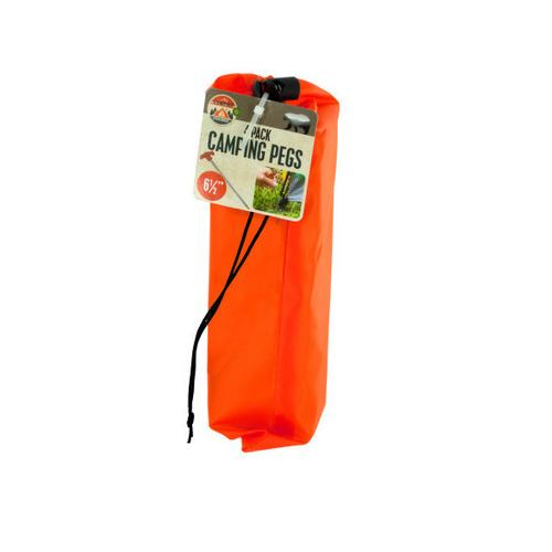 Camping Pegs Set with Carrying Bag ( Case of 36 )