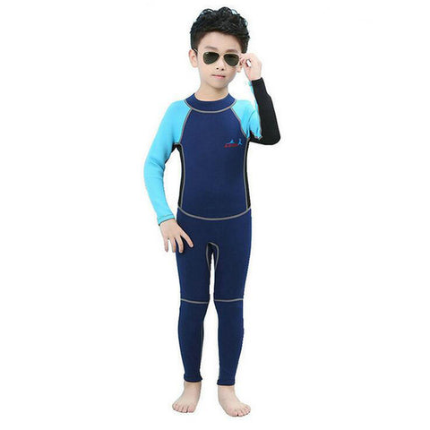 2MM Children Neoprene Swim Wetsuit Block Uv Surf Diving Sea Diving Floating Snorkeling Swimsuit