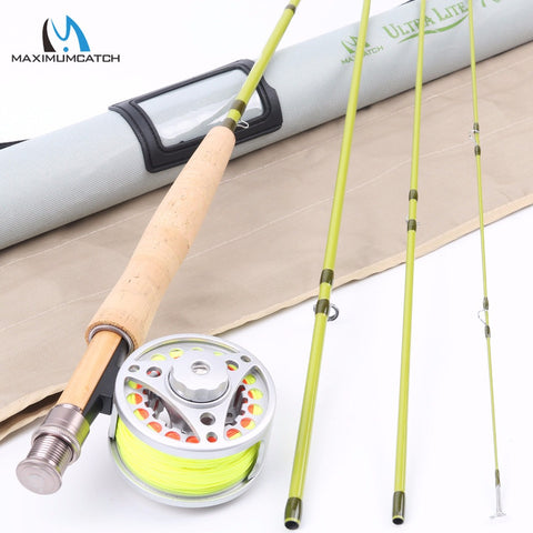 Maximumcatch 1-3 wt 6'-7'6''Super Light Carbon Fly Fishing Rod & Aluminum Reel &  Line Combo