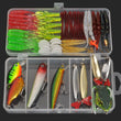New 8 Style Multi Fishing Lure Mixed Colors Plastic Metal Bait Soft Lure Kit Fishing Tackle Wobbler Spoon pesca iscas artificias