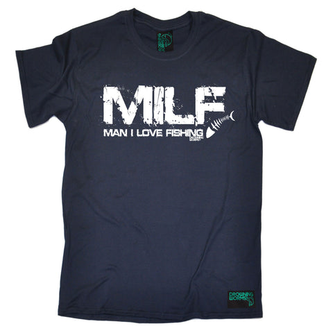 Milf Man I Love Fishing T-SHIRT Tee  Angling Funny Gift Birthday Casual Short Sleeve T Shirts