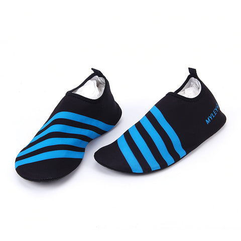 Water Sports Slip on Men Women Surf Aqua Beach Water Diving Boots Wet Suit Shoes Blue Stripes