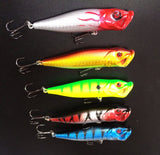 Hot Sale 5PCS 10CM 12G Popper Fishing Lures Hard Bait Top Water Fishing Tackle Plastic Lures Quality