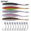 Ultra Fishing Lure Kit Soft Lure + Offset Worm Hook/Jig Head Crank Fishhooks Saltwater Fresh Water
