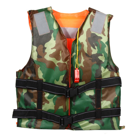 2 Sides Unisex Adult Foam Flotation Swimming Life Jacket Vest Whistle Boating fishing Swimming