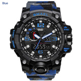 Luxury Military Sports Watch Mens Camouflage PU Straps Dual Display LED Fashion Casual Dive 50m