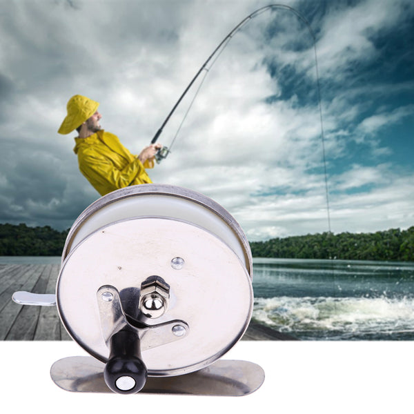 Metal Fishing Reels Ice Fishing Wheel Mini Pole Line Rod Spin Reel Casting Reels Ice Fishing
