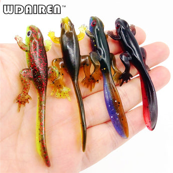 6pcs Plastic Grubs 80mm 3.8g silicone Worms Fishing Lure Smell Attract Crab Soft Bait FA-338