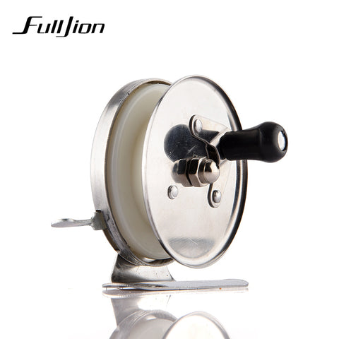 Fulljion Fishing Reel Ice Fly Fishing Rod Spinning Stainless Steel Small Wheel Coil Ultra-Angler