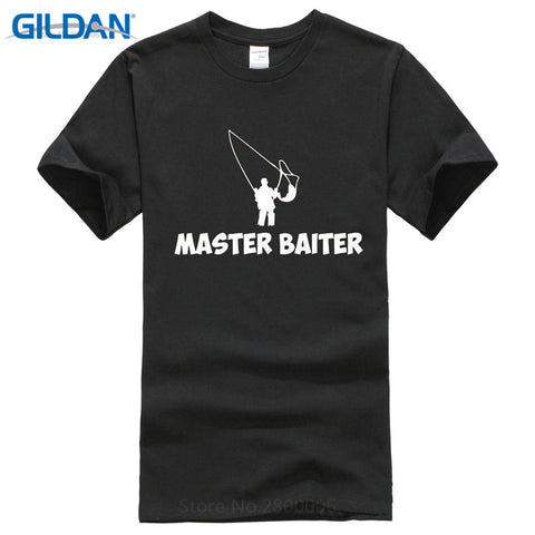 T Shirt Lowest Price 100% Cotton O-Neck Short Master Baiter Fishing Humorous Graphic Mens
