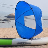 Pull power Kayak rowing boats Durable Two color Surfboard wind Board Sail clear window water sports