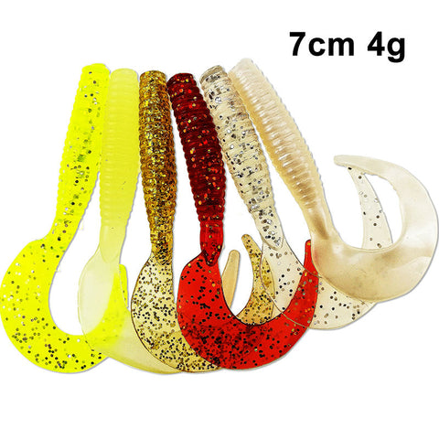 70mm 4g 10pcs/lot Classic Flexible Soft Lures Swimbaits Silicone Lure Fishing Tackle Fishing Lures