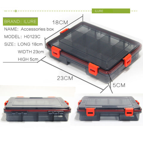iLure New Fishing Tackle Boxes 2 colors Fishing Accessories Case Fish Lure Bait Hooks Tackle Tool with Compartments