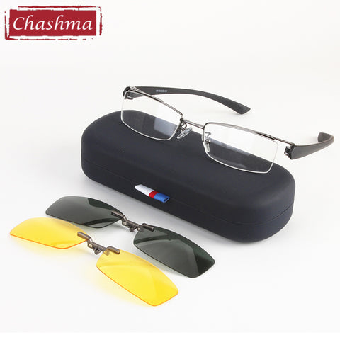 Chashma Men Fishing and Driving Qualtiy Optical Mopia Glasses Frame Clip Polarized Sunglasses