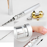 Mini Fishing Rod Ice Telescopic Spining Reel Hand Pole Reel Salt Water Lake Winter Fishing Rods